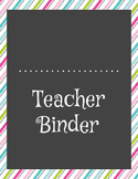 Ultimate Teacher Binder - Pastel Stripes