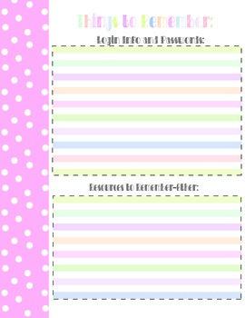 Ultimate Teacher Binder Printable!
