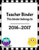 Ultimate Teacher Binders Organizer