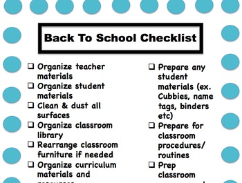 Ultimate Teacher Checklist Bundle