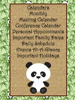 Ultimate Teacher Panda Themed 2013-2014 Planner - A Teacher's Dream Planner