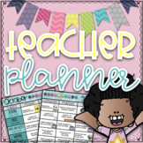 Teacher Lesson Planner & Lesson Plan Template| EDITABLE Teacher Binder 2020-2021