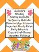 Ultimate Teacher Orange Chevron 2013-2014 Planner - A Teacher's Dream Planner