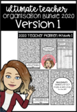 Ultimate Teacher Organisation Bundle 2020 Version 1