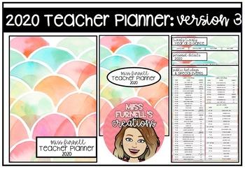 Ultimate Teacher Organisation Bundle 2020 Version 3