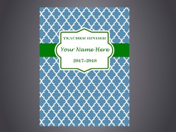 Ultimate Teacher Organizer- Blue Tile Cover