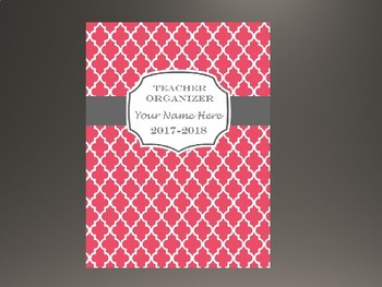 Ultimate Teacher Organizer- Dark Pink Cover
