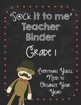 Ultimate Teacher Organizer-Grade 1 SOCK MONKEYS!