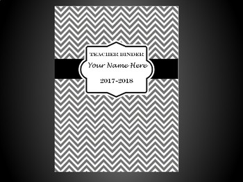 Ultimate Teacher Organizer- Grey Chevron Cover