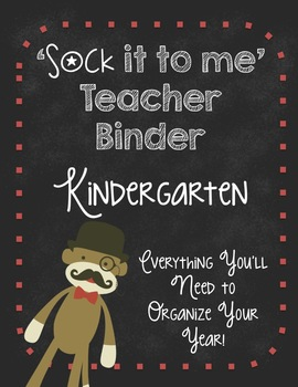 Ultimate Teacher Organizer-Kindergarten SOCK MONKEYS!