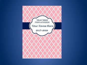 Ultimate Teacher Organizer- Light Pink Tile Cover