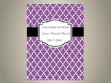 Ultimate Teacher Organizer- Purple Tile Cover