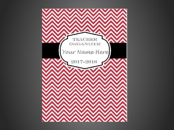 Ultimate Teacher Organizer- Red Chevron Cover