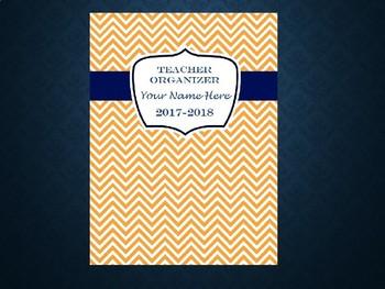 Ultimate Teacher Organizer- Tangerine Chevron Cover