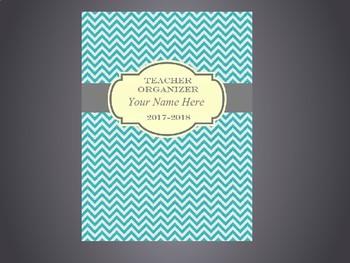 Ultimate Teacher Organizer- Teal Chevron Cover
