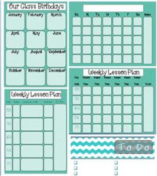 Ultimate Teacher Organizing Pack (Teal)
