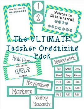 Ultimate Teacher Organizing Pack (Teal)