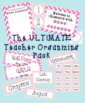 Ultimate Teacher Organizing Pack (Pink)