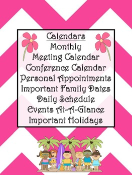 Ultimate Teacher Pink Chevron 2013-2014 Planner - A Teacher's Dream Planner