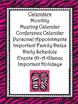 Ultimate Teacher Planner 2014-2015 Beautiful Zebra Pearl Houndstooth Common Core