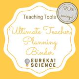 Ultimate Teacher Planner Binder 2018-2019 (Calendar - Less