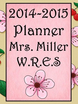 Ultimate Teacher Planner Cherry Blossom 2014-2015  - Common Core Included