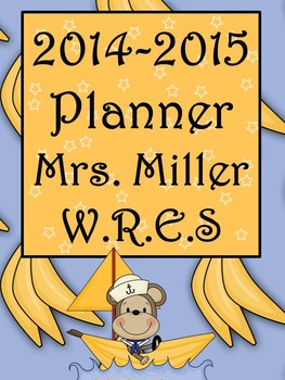 Ultimate Teacher Planner Monkey Fun 2014-2015  - Common Core Included