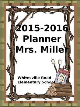 Ultimate Teacher Planner *NEW* Camping Theme 2015-2016  - Common Core Included