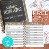 EDITABLE Teacher Planner & Organizer: Build Your Own Binder {Shabby Chic Design}