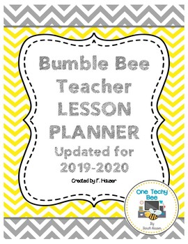 Bumble Bee Teacher Planner (*updated for 2017-2018)