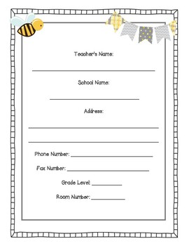 Bumble Bee Teacher Planner (*updated for 2018-2019)