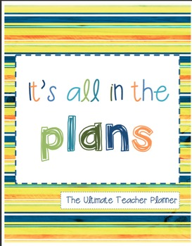 Ultimate Teacher Planner and Calendar---Bow Tie Colors