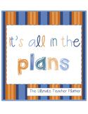 Ultimate Teacher Planner and Calendar---Sunset Colors