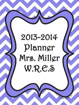 Ultimate Teacher Purple Chevron 2013-2014 Planner - Popula