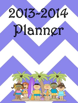 Ultimate Teacher Purple Beach Chevron 2013-2014 Planner - A Teacher's Dream