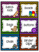 Ultimate Teacher Supply Labels- Colorful Chevron