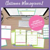 Editable Classroom Management Resources