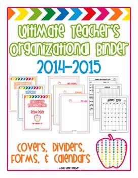 Ultimate Teacher's Organizational Binder(s) - Subs, Communication, Data & MORE!