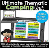 Ultimate Thematic CAMPING UNIT for Speech Therapy: Distanc