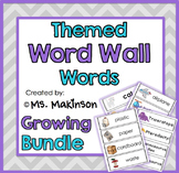 Ultimate Themed Word Wall Words - Growing Bundle