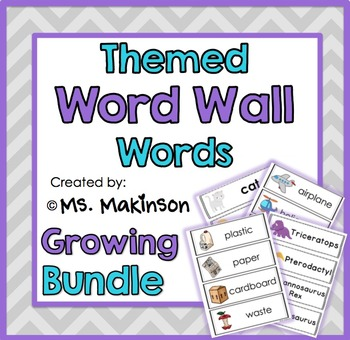 Ultimate Themed Word Wall Words - Growing Bundle