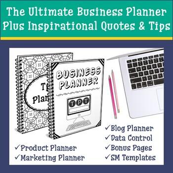 TpT Seller Business Planner | Blog & Social Media Planner | Data Tracker