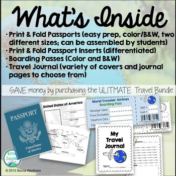 Travel Bundle (Passports, Boarding Passes, Travel Journals)