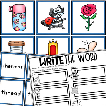 CH, PH, SH, TH, WH Word Work Centers