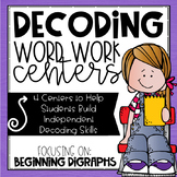 Digraph Word Work Centers | CH, PH, SH, TH, WH
