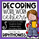 Diphthongs AU, AW, OI, OU, OW, OY Word Work Centers