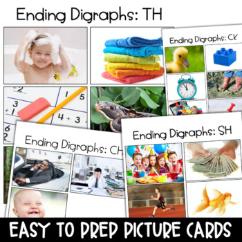 CH, CK, SH, TH Word Work Centers