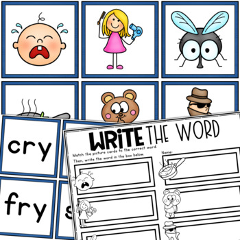 I_E, IE, IGH, Y Word Work Centers