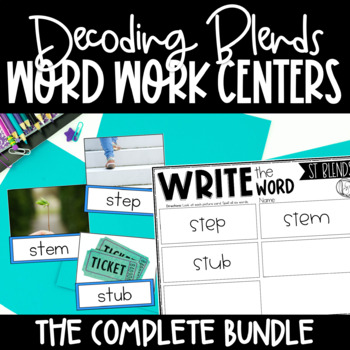 Blends Word Work Centers BUNDLE