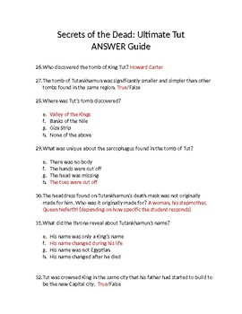 Ultimate Tut Video Guide